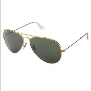 New Authentic Rey-Ban Aviator Cold & Black